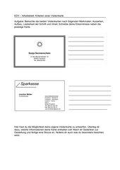 Arbeitsblatt: Kriterien einer Visitenkarte