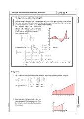 Integration über abschnittweise definierte Funktionen