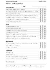 Bewertungsbogen für Mappen