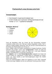Flächeninhalt eines Kreises ermitteln