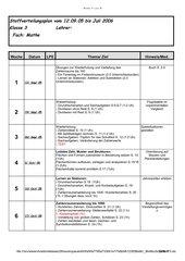 Stoffverteilungsplan Mathematik 3. Klasse Ba-Wü. 2005/2006
