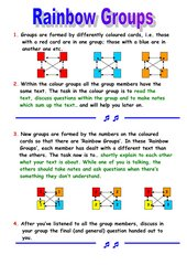 Strukturfolie: Rainbow Groups (Gruppenpuzzle)