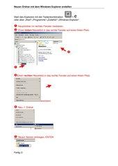 Neuen Ordner mit dem Windows Explorer erstellen
