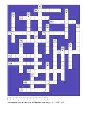 Kreuzworträtsel 'Mehrzahlbildung'
