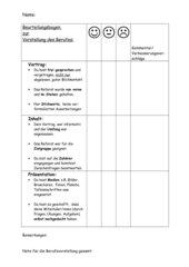 Berufsvorstellung - Präsentationsbeurteilung