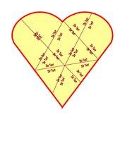 Vorlage für ein Domino/Puzzle in Herzform