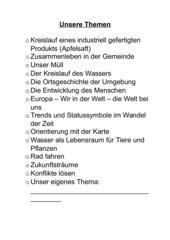 Jahresübersicht HSU 4. Klasse, Bayern als 1. Heftseite