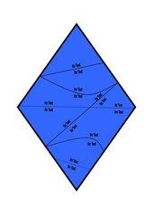 Vorlage für ein Domino/Puzzle in Rautenform