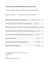 Aufsatzbeurteilung: Nacherzählung mit Perspektivenwechsel