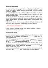 St. Martin Lückentext und Rätsel