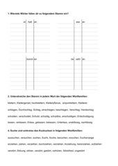 Wortstamm/Wortfamilien