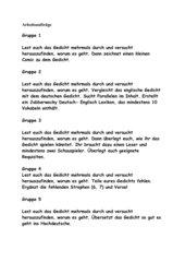 Morgenstern Zipferlack- Sprachspiel Gedicht