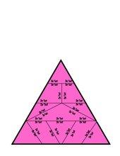 Vorlage für ein Domino/Puzzle in Dreiecksform