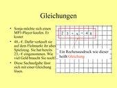 Powerpoint-Präsentation Gleichungen (Addition/Subtraktion)