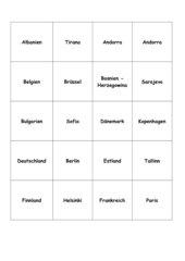Europa - Memo-Spiel / Zuordnungsspiel