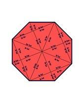 Vorlage für ein Puzzle / Domino in Form eines Achtecks