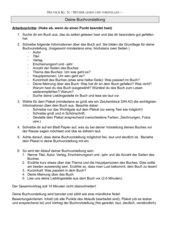 Kriterien für die Buchvorstellung