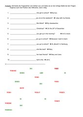 Fragen mit Fragewörtern (simple present)