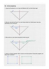 Anleitung zur Achsenspiegelung (einfach)