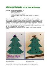 Weihnachtskarte mit farbiger Wellpappe