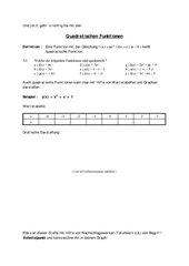 Quadratische Funktionen Teil 2