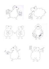 6 Bilder (Schafe) zur Visualisierung von Klassendiensten