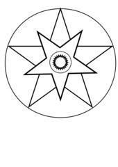 weihnachtliche Mandalas - Grundformen zum Weitergestalten