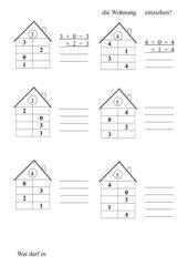 Zahlenraum bis 10: Ergänzungshäuser - Zerlegungshäuser
