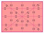 Vorlage für ein Puzzle in Rechteckform