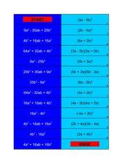 Domino - Binomische Formeln