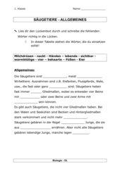 Säugetiere - Allgemeines