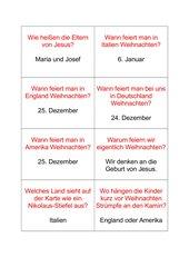 Quiz-Fragen Weihnachten