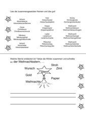 Zusammengesetzte Nomen lesen und schreiben (Thema Advent)