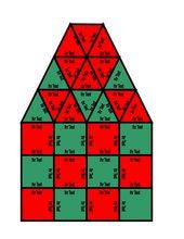 Puzzle in Form eines karierten Hauses