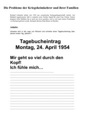 """""""Ab in die Heimat"""" – Die Probleme der Kriegsheimkehrer und ihrer Familien nach 1945 am Beispiel eines Filmausschnitts aus"""
