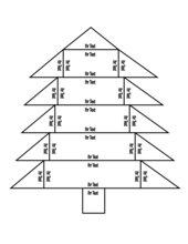 Puzzle in Form eines Weihnachtsbaums