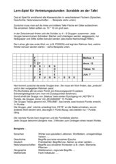 Lern-Spiel Fächer-übergreifend (Scrabble)