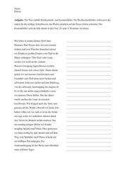 Übung zur Rechtschreibung und Kommasetzung