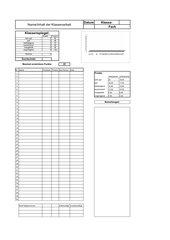 Excel-Mappe für Klassenarbeiten