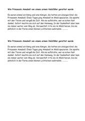 Klassenarbeit: Märchen/Fortsetzung