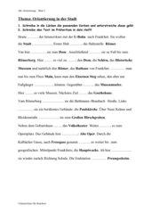 Lückentext/Verben - Frankfurt-Rallye (Präteritum)