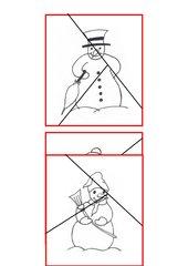 Schneemannpuzzles zur 3er-Gruppenbildung