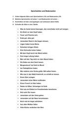 Sprichwörter und Redensarten sortieren + Lösung (HS, 7.Klasse)