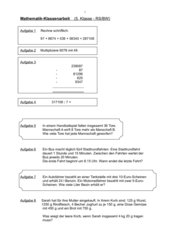 Mathe - Test 5. Klasse (RS/BW)