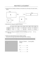 Quadrat und Rechteck