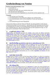 Großschreibung von Nomina - Arbeitsblatt