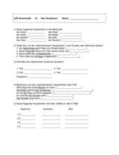 Test Nomen ( Fälle, Einzahl - Mehrzahl)