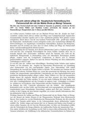 Erfahrungsbericht Schulpartnerschaft Deutschland Tansania