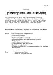 Morgenkreis: Stolpersteine und Highlights