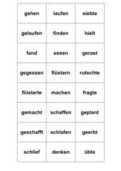 Zeitwörter - Domino oder  Memo-Spiel /  Zuordnungsspiel